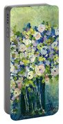 Grandma's Flowers Portable Battery Charger by Sherry Harradence