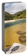 Granite Boulders In Abel Tasman Np In New Zealand Portable Battery Charger