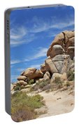 Granite Boulders In The Desert Portable Battery Charger