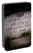 Granite Monument Quoddy Head State Park Portable Battery Charger