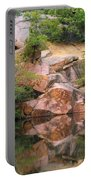 Granite Quarry And Reflections In The Missouri Ozarks Portable Battery Charger