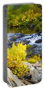 Granite Rocks Above The Cascading Feather River, Quincy California Portable Battery Charger