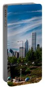 Grant Park Chicago Skyline Panoramic Portable Battery Charger