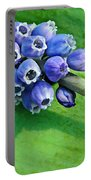 Grape Hyacinth Spike  Portable Battery Charger