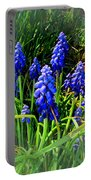Grape Hyacinths 2014 Portable Battery Charger