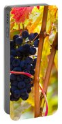 Grapes And Autumn Leaves, Napa California Portable Battery Charger