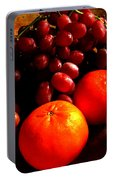Grapes And Tangerines Portable Battery Charger