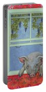 Grapes At The Window Portable Battery Charger by Ditz