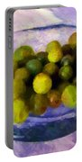 Grapes On The Half Shell Portable Battery Charger