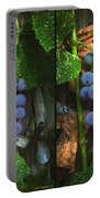 Grapes On The Vine - Gently Cross Your Eyes And Focus On The Middle Image Portable Battery Charger