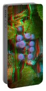 Grapes On The Vine - Use Red-cyan Filtered 3d Glasses Portable Battery Charger