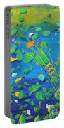Grass Over Pond Portable Battery Charger