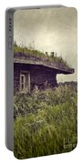 Grass Roof On Cottage Portable Battery Charger