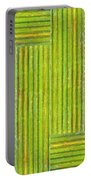Grassy Green Stripes Portable Battery Charger