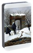 Graveyard Under Snow Portable Battery Charger