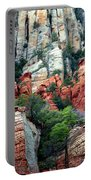 Gray And Orange Sedona Cliff Portable Battery Charger