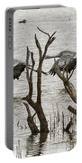 Gray Day At Whitewater Portable Battery Charger