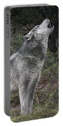 Gray Wolf Howling Endangered Species Wildlife Rescue Portable Battery Charger
