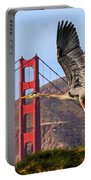 Great Blue At The Golden Gate Portable Battery Charger
