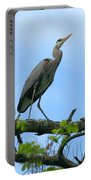 Great Blue Heron Afternoon Fishing  Portable Battery Charger