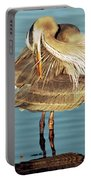 Great Blue Heron Ardea Herodias Preening Portable Battery Charger