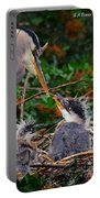 Great Blue Heron Family Portable Battery Charger