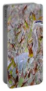 Great Blue Heron In Fall Marsh Portable Battery Charger