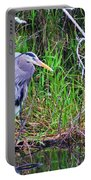 Great Blue Heron In Nature Portable Battery Charger