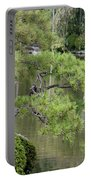 Great Blue Heron In Pond Kyoto Japan Portable Battery Charger
