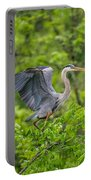 Great Blue Heron Landing Portable Battery Charger