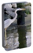 Great Blue Heron - Mealtime Portable Battery Charger