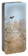 Great Blue Heron Nest Building 1 Portable Battery Charger
