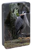 Great Blue Heron On The Clinch River Portable Battery Charger