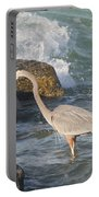 Great Blue Heron On The Prey Portable Battery Charger