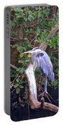 Great Blue Heron Resting Portable Battery Charger