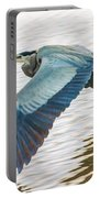 Great Blue Heron Taking Flight Portable Battery Charger