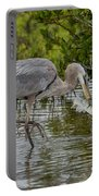 Great Blue Heron With Fish Portable Battery Charger