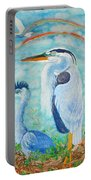 Great Blue Herons Seek Freedom Portable Battery Charger