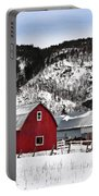 Great Canadian Red Barn In Winter Portable Battery Charger