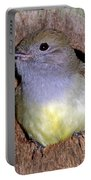 Great Crested Flycatcher In Nest Cavity Portable Battery Charger