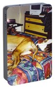 Great Dane And Cat Portable Battery Charger