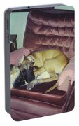 Great Dane Pup And Cat Portable Battery Charger