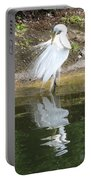 Great Egret In The Lake Portable Battery Charger
