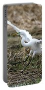 Great Egret Landing Portable Battery Charger