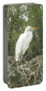 Great Egret Lookout Portable Battery Charger