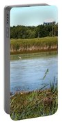 Great Egret On Berm Pond At Tifft Nature Preserve Buffalo New York Portable Battery Charger