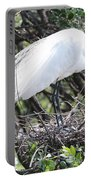 Great Egret On Nest Portable Battery Charger