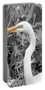 Great Egret Poster Portable Battery Charger