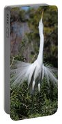 Great Egret Showoff Portable Battery Charger