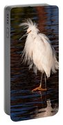 Great Egret Walking On Water Portable Battery Charger